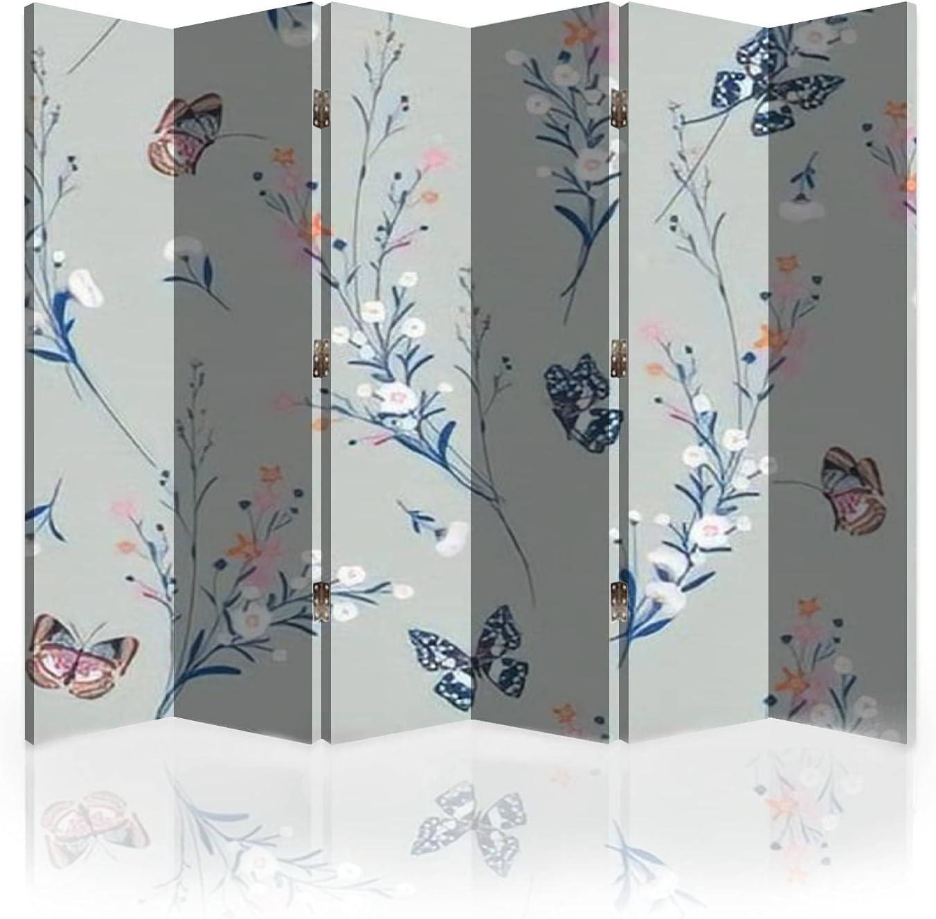 Canvas Room Divider Screen Sweet Blowing Flowers Japan Sale item Maker New Pastel i Meadow