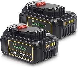 2PACK-QUPER DCB184 18V 5.0Ah MAX XR Batería de repuesto para pantalla LED Compatible con Dewalt DCS355N-XJ, DCW210N-XJ, DCM563PB-XJ, DCG405N, DCD796N, DCW210N-XJ, DCS571N, DCS335N, DCV517, DCG412N