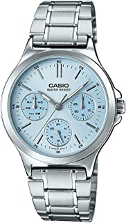 Casio Watch For Women Stainless Steel Ltp V300D 2Audf, Analog