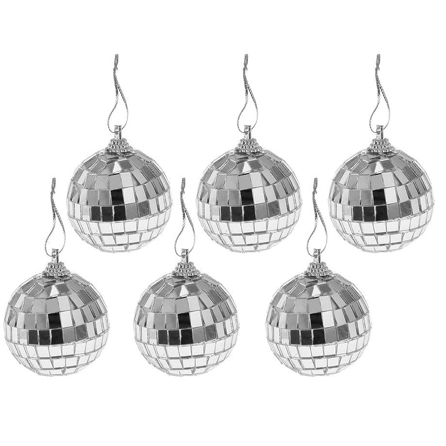 のみファセット花嫁クリスマス ツリー飾り ミラーボール ガラスボール DIY 手作り 多仕様選べ - 6個5cm