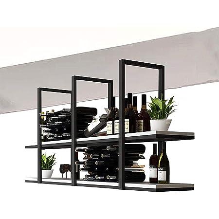 Casier à vin de Plafond rétro de Type Plafond étagère de décoration de Plafond en Bois Massif , Support de Rangement pour Plafond Suspendu et étagères , pour Bars/Restaurants/Cuisines (t