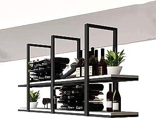 Casier à vin de Plafond rétro de Type Plafond étagère de décoration de Plafond en Bois Massif , Support de Rangement pour ...