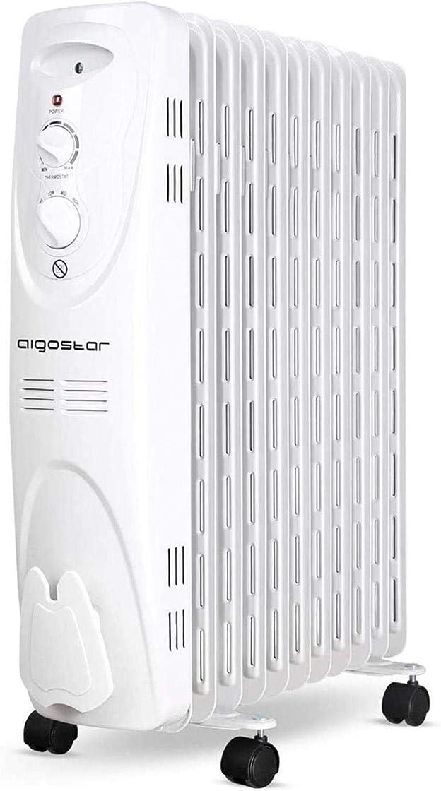 Radiatore a olio elettrico da 2300 w con termostato, 11 scanalature, 3 livelli di calore, aigostar pangpang Ultra Oilwin