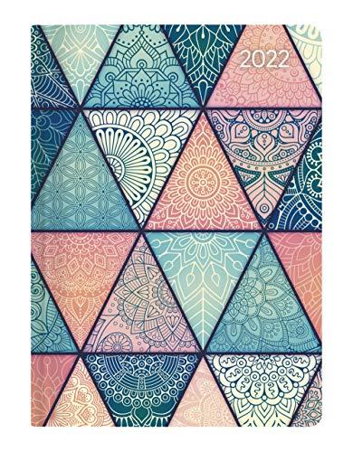 Mini-Buchkalender Style Oriental 2022 - Taschen-Kalender A6 - Elefant - Day By Day - 352 Seiten - Notiz-Buch - Alpha Edition