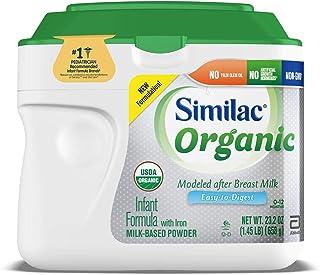 Similac Organic Infant Formula with Iron, Powder, 1.45 lb (Pack of 6)