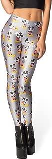 Women's Basic Mickey Mouse Print Stretch Skinny Leggings Pants