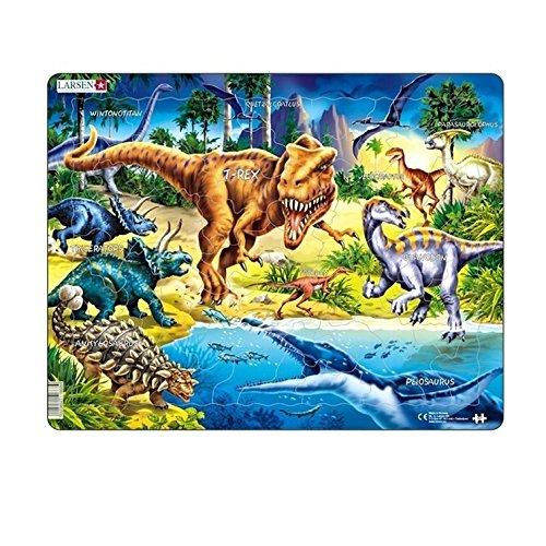 Larsen NB3 Rahmenpuzzle Dinosaurier aus der Kreidezeit 57 Teile, bunt