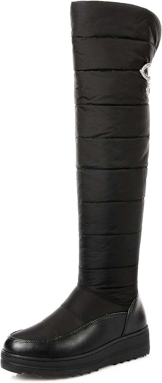 CHENSIR9 Women Long Warm Snow Boots Black Over The Knee Boots Womens Thigh High Boots Platform 2018 Fashion Women Winter shoes (6.5 B(M) US, Black)