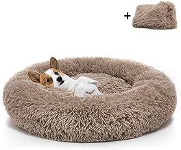 Lavable Cama para Perros Donut Cuddler Cama Redonda para Perros Boehner Cama Redonda para Mascotas Gris Oscuro, 50 cm Felpa autocalentable c/ómoda para Dormir en Invierno calmante Suave
