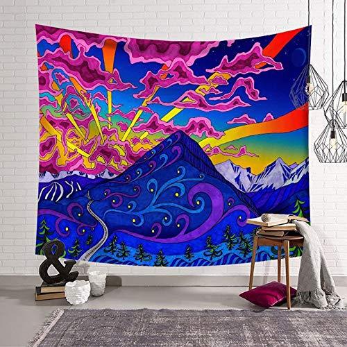 Tapiz psicodélico mandala colgante de pared patrón de colores manta de yoga tapiz de tela de fondo para el hogar A2 180x200cm