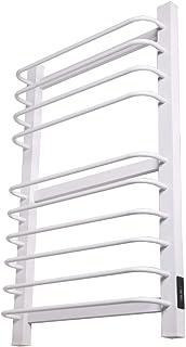 Hesily Toallero Radiador Blanco Toallero Eléctrico con Termostato Riel De Toalla con Calefacción Recta, Radiador, Calentador Escalera De Calefacción Central Riel para Baño Elegante