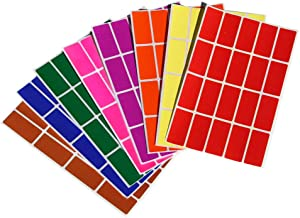 Royal Green Color Coding Labels Rectangle 1.57inch x 0.75 inch Rectangular Stickers in Red/Green/Yellow/Pink/Purple/Orange/Brown/Blue (40mm x 19mm) 160 Pack