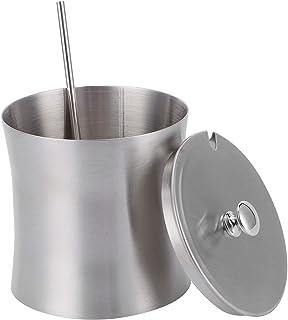 Récipients d'assaisonnement d'acier inoxydable 375ml, pot d'assaisonnement de stockage de pot d'épices de bol de sucre ave...