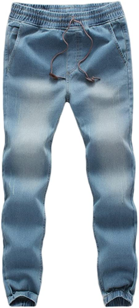 TIMEMEANS Men's Casual Autumn Denim W Sales of SALE items from new works Cotton National products Elastic Draw String
