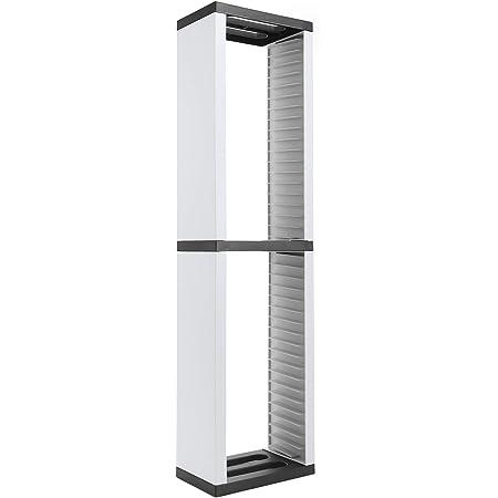 Torre de almacenamiento de estantes de CD, Estante de almacenamiento de discos de CD, Soporte protector de CD para 36 juegos, Torre de soporte de DVD/CD para PS5/Switch