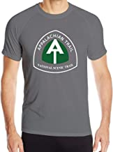 Appalachian Trail Men's Dry-Fit Moisture Wicking Active Athletic Performance Crew T-Shirt Black