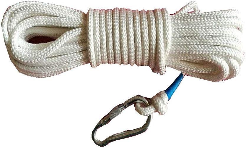 Schlingen Corde D'Escalade Sécurité Corde D'évacuation D'urgence De Grande Hauteur Outdoor Lifeline,blanc-20m8mm