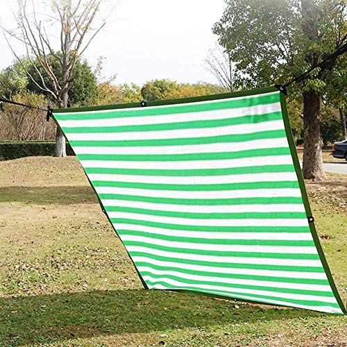 H.ZHOU Shade Patio Pergola Garden Shade Cover Green Awning Sun Sunblock Mesh Cloth with Reinforced Grommets 85% Blockage UV Protection-3m x 3m 0915
