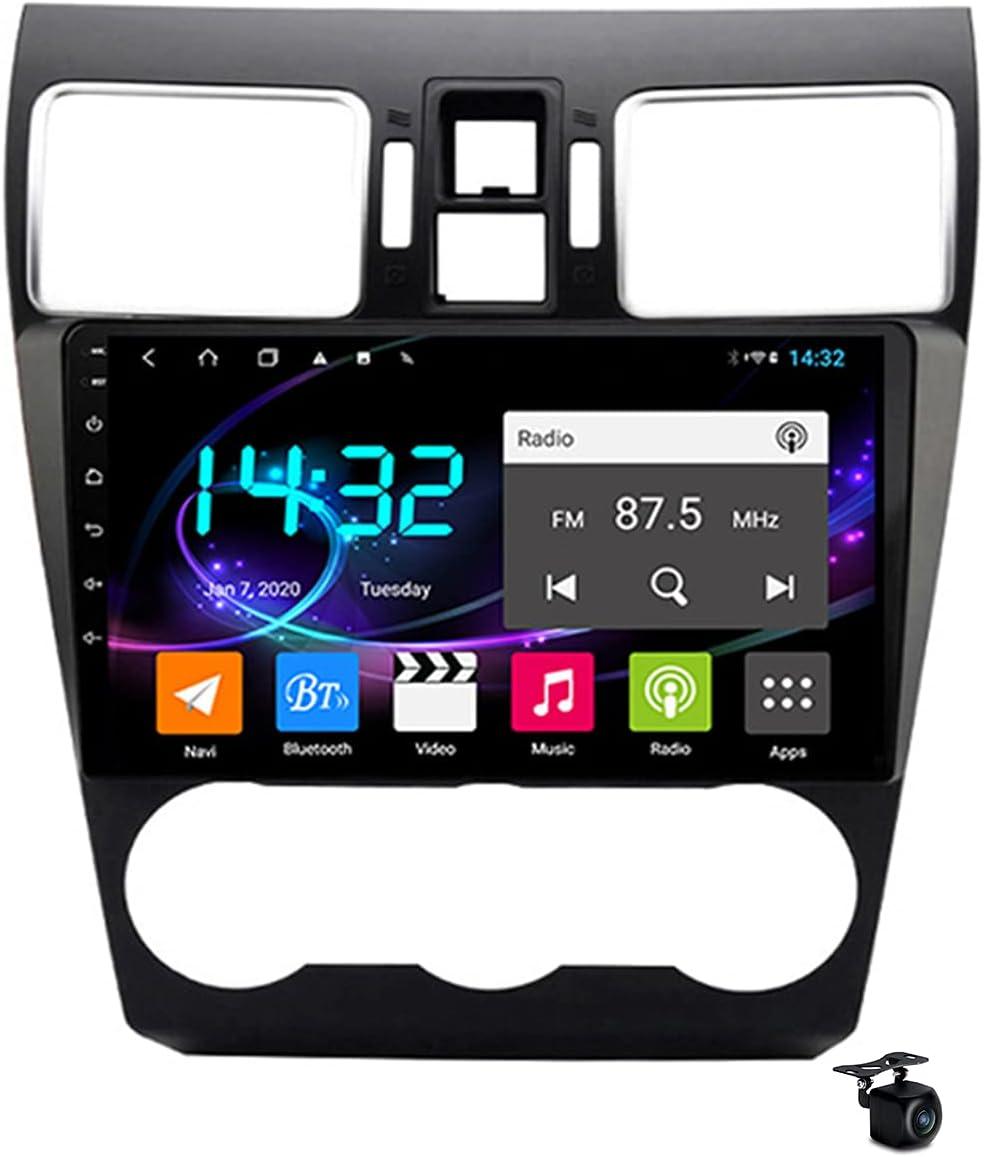 YCJB Sat Nav Android 10.0 Car Stereo Radio for Subaru Forester 4 SJ XV 2012-2018 GPS Navigation 9'' Headunit MP5 Multimedia Video Player Receiver with 4G 5G WiFi SWC Carplay,8core 4/5g WiFi 6+128gb