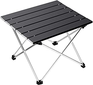 Ledeak Portable Camping Table, Small Ultralight Folding Table with Aluminum Table Top and Carry Bag, Easy to Carry, Prefec...