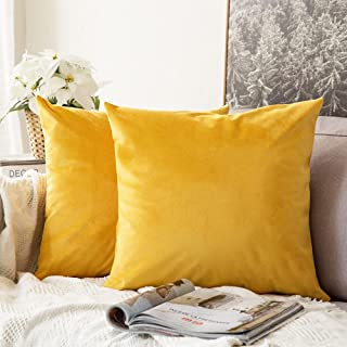 CHICHIC Soft Decorative Throw Pillow Covers (Gold, 20x20)