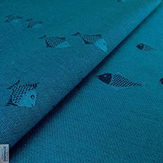 DIDYMOS Woven Wrap Baby Carrier Fish Mystic (Organic Cotton), Size 7