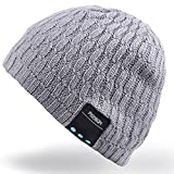 Rotibox Bluetooth Beanie Hut, Winter Trendy Kurze Strickmütze mit Wireless Bluetooth...