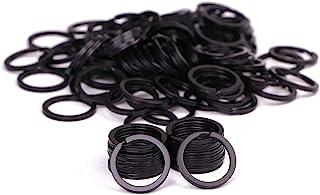 Shapenty 100PCS Black Metal Key Rings Bulk Flat Split Key Chain Part Connector Keyring Clip Keychain Clasp Holder for DIY ...