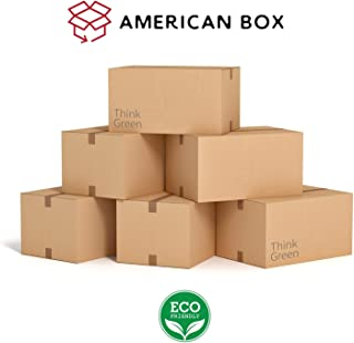 Moving Boxes, Medium 18x14x12 Inch, 20-Pack by American Box & Recycling, Think Green, Save Money