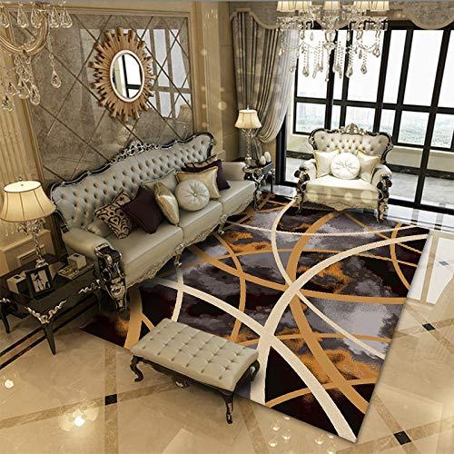 Alfombra de estilo moderno para sala de estar, dormitorio, tamaño extra grande, alfombra de pelo corto, no se desprende, antideslizante, lavable, 40 x 60 cm