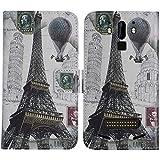 TienJueShi Eiffel Tower Stand Flip PU Leather TPU Silicone