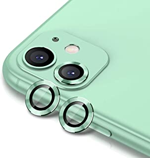 Buluby Camera Lens Protector for iPhone 11 (6.1 inch),Premium Tempered Glass Film Aluminum Alloy Lens Screen Cover Case Green