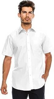 Men's Regular-Fit Solid Color Short Sleeve Dress Shirts (Big