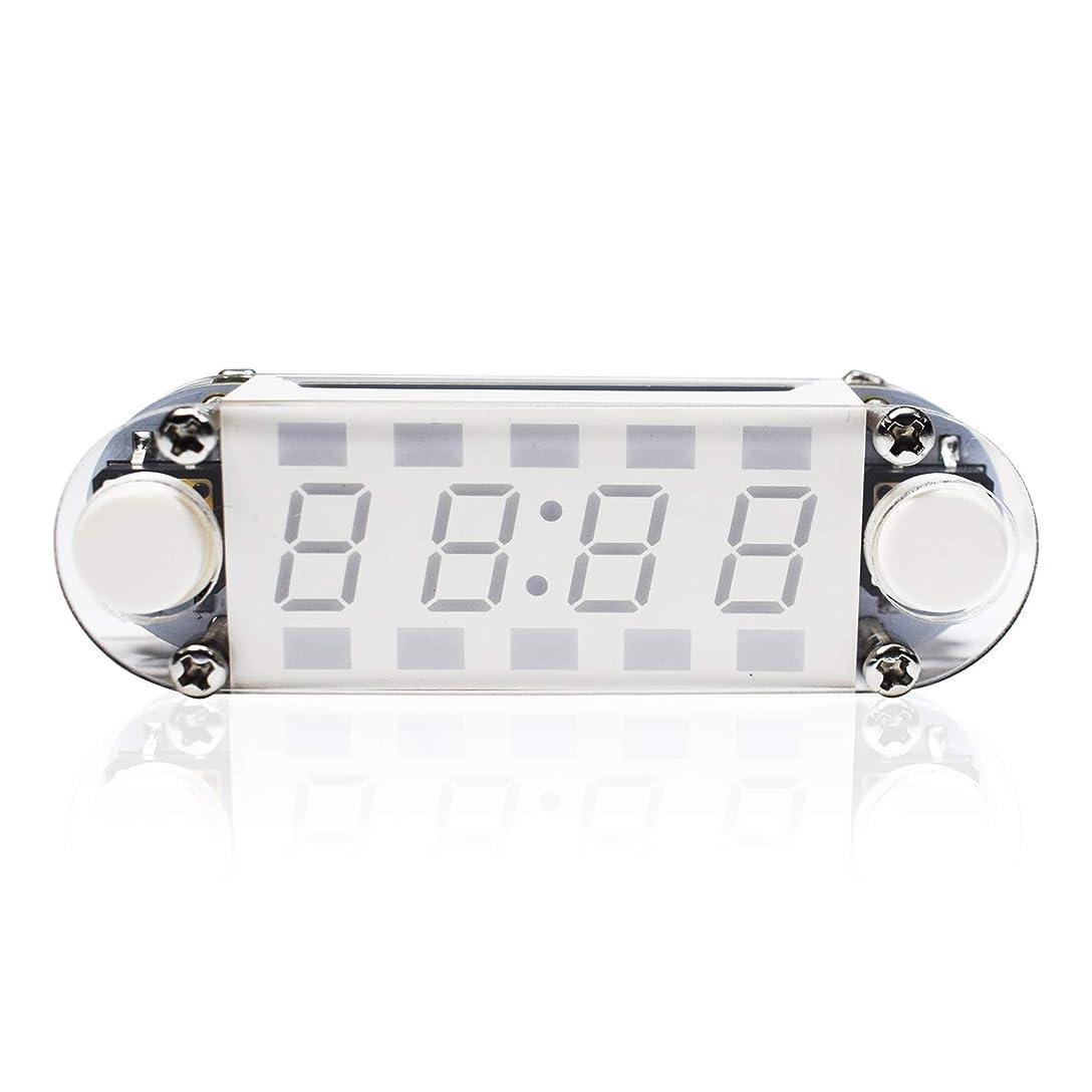 部ウェイトレスダンスKK moon クロックキット LED時計 時計DIYキット 4桁デジタル USB電源時計 LED混合色ニキシー管テーブル