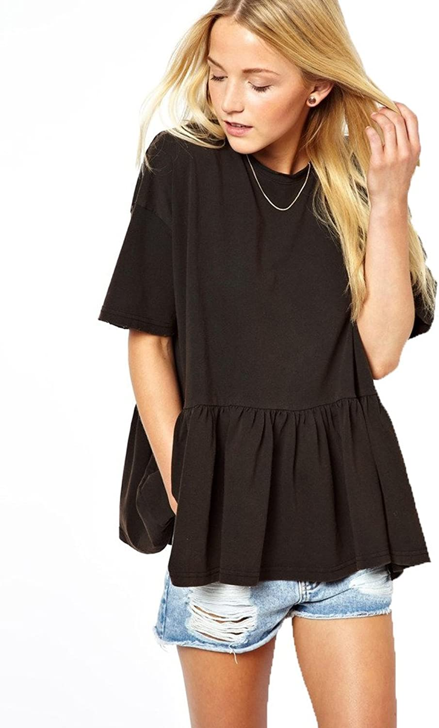 Angel&Lily Oversized Ruffled Loose Comfort Casual Shrit YW84 plus 1x10x (SZ 1652)