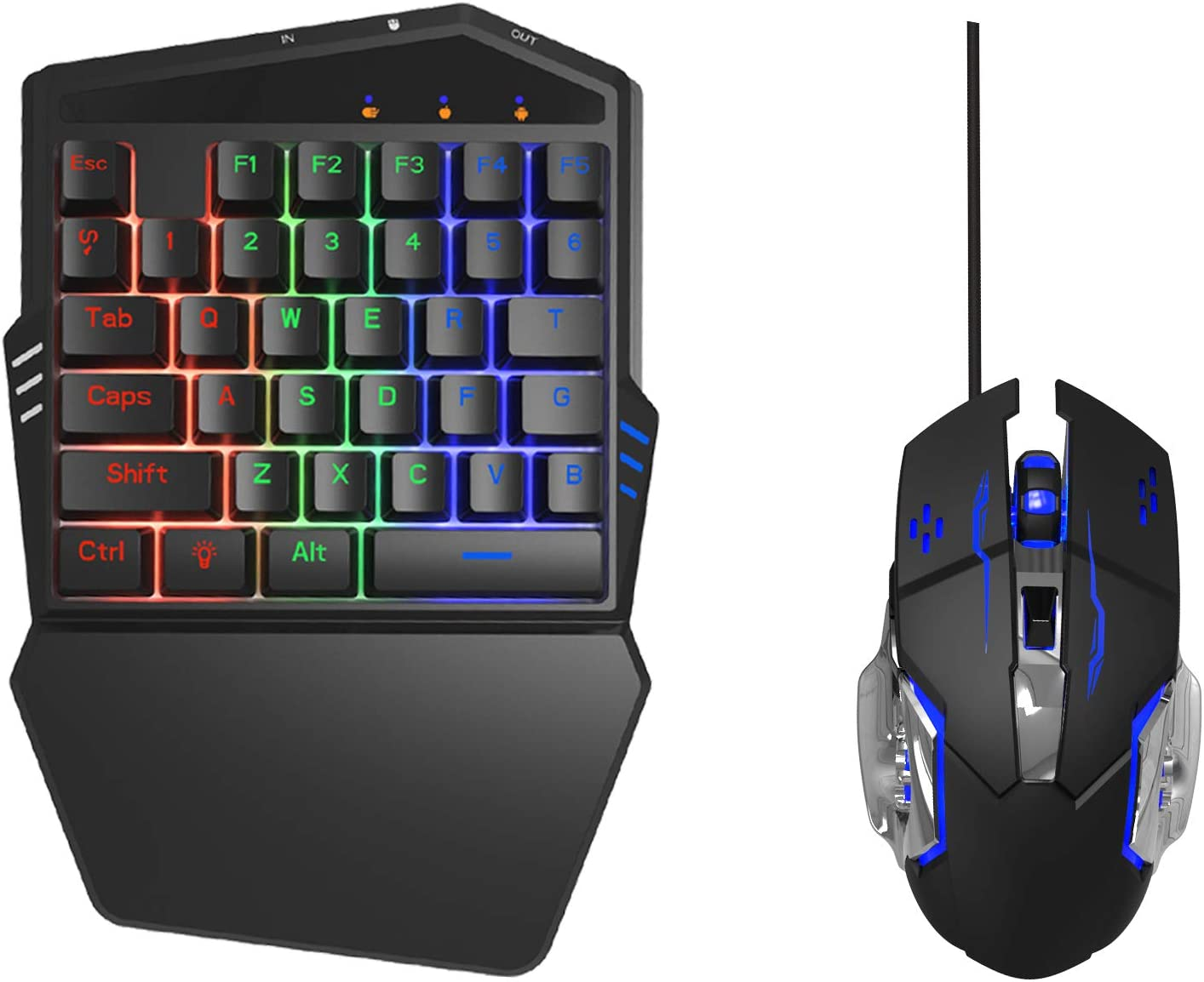 Max 55% OFF DarkWalker FO212 Mobile Gaming Keyboard Combo Andr for Mouse 100% quality warranty! and