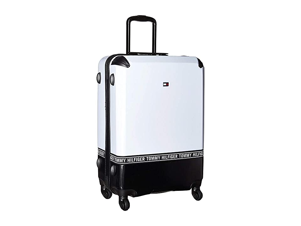 Tommy Hilfiger Courtside 24 Upright Suitcase (White/Black) Pullman Luggage