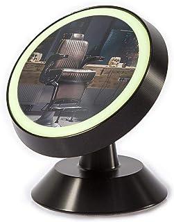 光る車載ホルダースマホスタンドマグネット式スマホタブレット360度回転iPhoneなど多機種対応 レトロビンテージ理髪店チェアオールドスクール