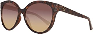 Guess Women's Fashion Sun GU 7402 52F Sunglasses, Brown, 57 mm