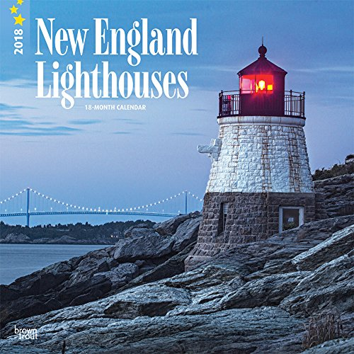 Lighthouses, New England 2018 12 x 12 Inch Monthly Square Wall Calendar, USA United States of America East Coast Scenic Nature (Multilingual Edition)