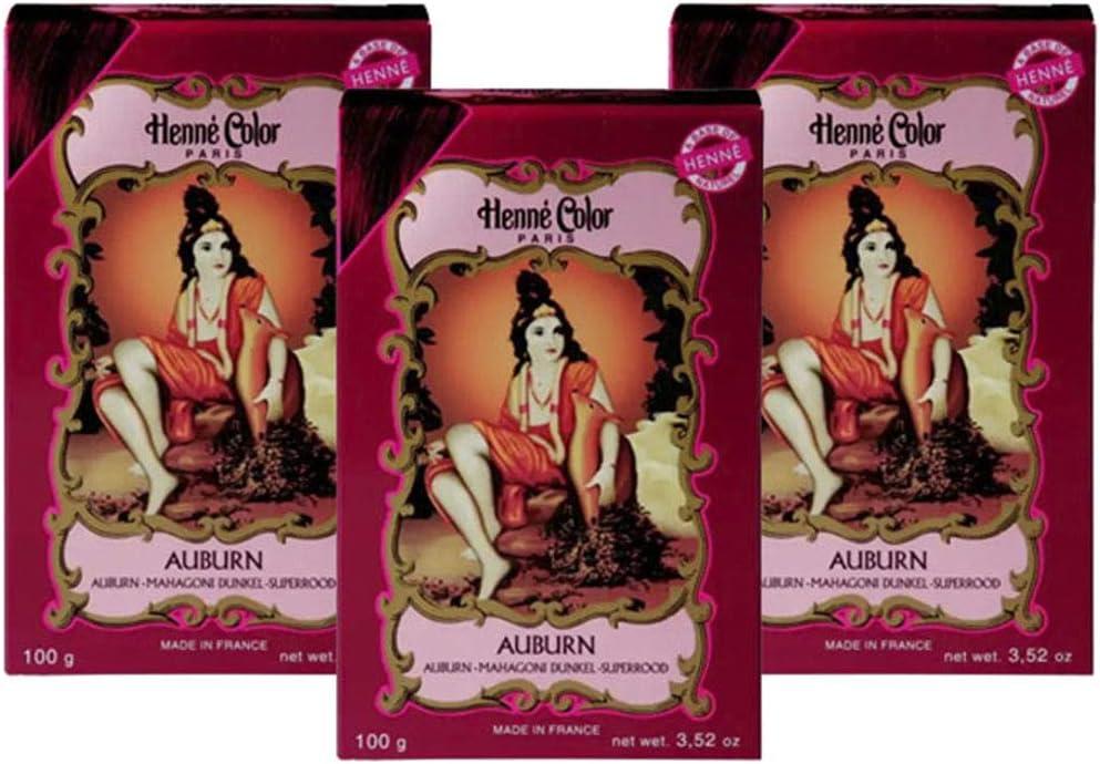 sold out Henne [Alternative dealer] Color Henna Powder Auburn OF 3 100gm PACK