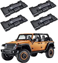 AnnBay Roll Bar Grab Handles, Heavy Duty Wrangler Jeep Grip Handle Set, Easy-to-Fit Triple Banded for Security 1955-2018 Models, Safe Adventure Experience Car Accessory (Pack of 4)