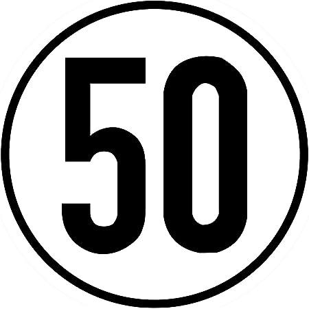 Geschwindigkeitsschild 50 Km H 20cm Nach 58 Stvzo Folienaufkleber Zur Anbringung Karosserie Aussen Aufkleber Geschwindigkeit Rund Für Traktor Lkw Rollstuhl Auto