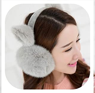 New Fashion Cute Ears Plush Earmuffs Comfortable Warm Earmuff Female Winter Outdoor Protect Ears Winter Accessories,Gray