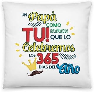 Kembilove Cojin para Padre Cojines con Frases Graciosas Papá lo celebramos los 365 días – Regalo Original para el día del Padre – Cojines Cómodos