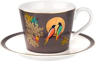 Sara Miller London for Portmeirion Chelsea Collection Tea Cup & Saucer - Dark Grey