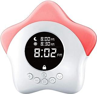 Learn & Climb Kids Ok to Come Out of Bed Clock - Kids Sleep Training Clock, Night Light & Alarm.