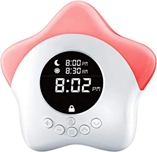 Learn & Climb Kids Ok to Come Out of Bed Clock - Kids Sleep Training Clock, Night Light & Alarm.