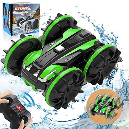 Landtaix RC Car Amphibious Remote Control Car Boat,2.4Ghz 4WD Off Road Rock Double Sided 360° Rotating Crawler Hobby RC Truck Toy Gifts for 6 7 8+ Year Old Girls Boys Teens Aadults