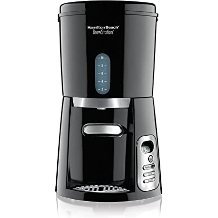 Hamilton Beach 47380 BrewStation, Cafetera Dispensadora, 10 tazas programable, Negro